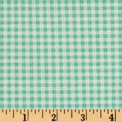 Flamingo Fever Mini Gingham Mint Fabric
