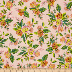 Cotton + Steel Rifle Paper Co. Menagerie Jardin De Paris Peony