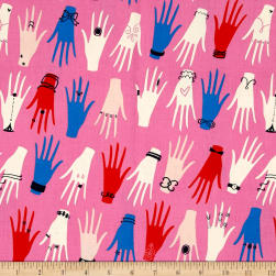 Cotton + Steel Beauty Shop Manicure Pink Fabric