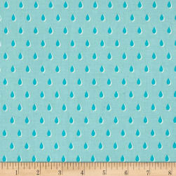 Cotton + Steel Beauty Shop Drops Aqua Fabric