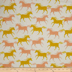 Cotton + Steel Magic Forest Unicorns Yellow