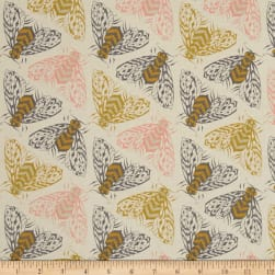Cotton + Steel Magic Forest Bees Yellow Fabric