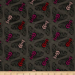 Cotton + Steel Magic Forest Bees Charcoal Fabric