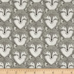 Cotton + Steel Magic Forest Foxes Grey Fabric