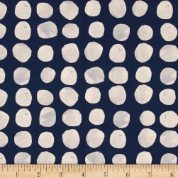 Cotton + Steel Sienna Pebbles Indigo Fabric