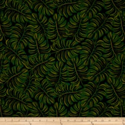 Cotton + Steel Rifle Paper Co. Menagerie Rayon Lawn Monstera Midnight