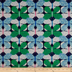 Cotton+Steel Beauty Shop Canvas Butterfly Navy Fabric