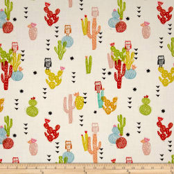 Cotton + Steel Sienna Cotton Lawn Desert Bloom Poppy Fabric