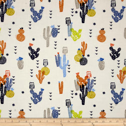 Cotton + Steel Sienna Cotton Lawn Desert Bloom Ink Fabric