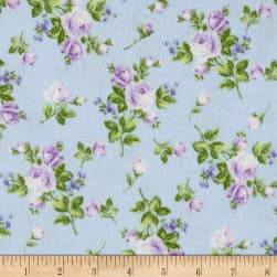 Afternoon In The Attic Flannel Heirloom Floral Lavender
