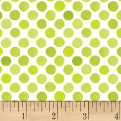 Lori's Art Garden Garden Dots Green Fabric