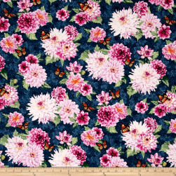 Newport Place Westcliff Floral Slate Fabric