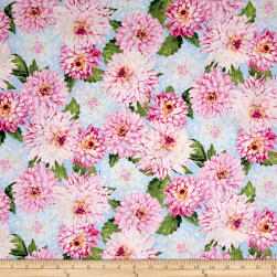Newport Place Clearview Floral Blue Sky Fabric