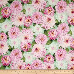 Newport Place Clearview Floral Mint Fabric