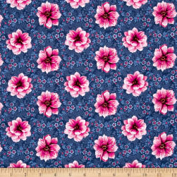 Newport Place Belmont Floral Slate Fabric