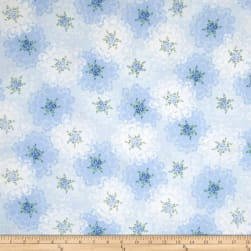 Newport Place Ambroise Floral Lace Blue Sky Fabric