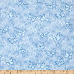 Newport Place Skycrest Butterflies Blue Sky Fabric