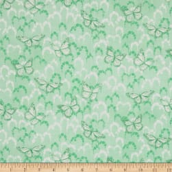 Newport Place Skycrest Butterflies Mint Fabric