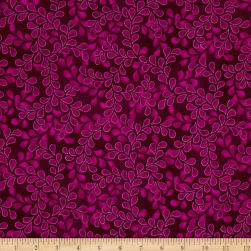 Newport Place Bay Hill Vine Aubergine Fabric