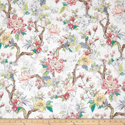 Serene Spring New Blooms Frost Metallic Fabric