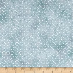 Serene Spring Droplets Fog Metallic Fabric