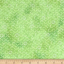 Serene Spring Droplets Seedling Metallic Fabric
