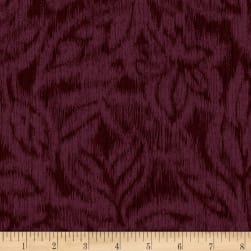 Miyako Graphic Leaf Aubergine Fabric