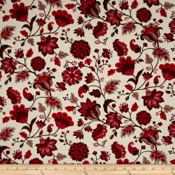 Remember Red Ravishing Cream Fabric