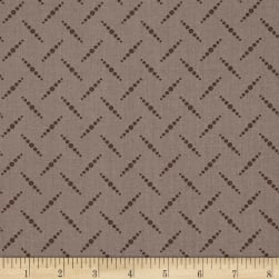 Remember Red Zag-Dot Brown Fabric