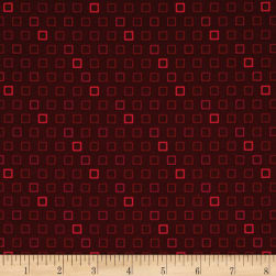 Remember Red Boxed In Maroon Fabric