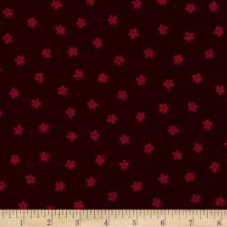 Remember Red Pick A Posey Dark Red Fabric