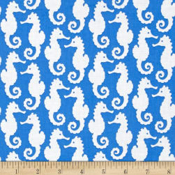 Kaufman Reef Seahorses Astral Fabric