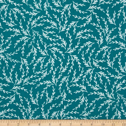 Kaufman Reef Twigs Teal Fabric