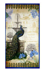 Kaufman Palais Jardin Metallics 23'' Panel Peacock Fabric