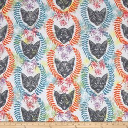 Kaufman Lucy And Ollie Digital Cat Row Multi
