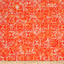 Kaufman Lucy And Ollie Geo Kumquat Fabric