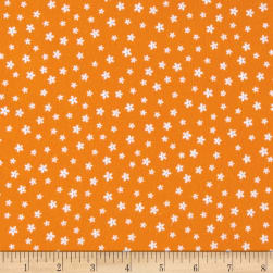 Kaufman Woodland Hideaway Flannel Flowers Orange Fabric
