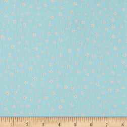 Kaufman Woodland Hideaway Flannel Flowers Teal Fabric