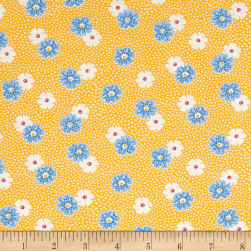 Kaufman Windowsill Garden Flower Screamin' Yellow Fabric