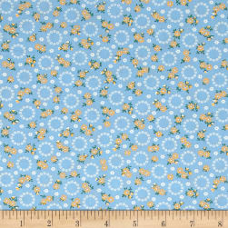 Kaufman Windowsill Garden Circles Lake Fabric