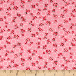 Kaufman Windowsill Garden Circles Camellia Fabric