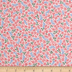 Kaufman Windowsill Garden Stems Camellia Fabric