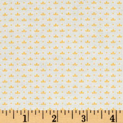 Kaufman Windowsill Garden Flower Ditz Screamin' Yellow Fabric