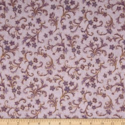 Kaufman Villa Romana Metallics Spray Mauve Fabric