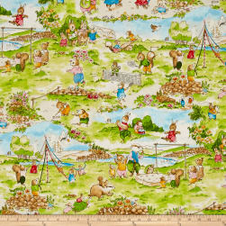 Kaufman Storybook Meadow Toille Bright Fabric