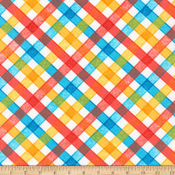 Kaufman Storybook Meadow Trellis Bright Fabric