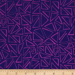 Kaufman Panache Triangles Purple Fabric