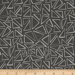 Kaufman Panache Triangles Coal Fabric