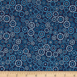 Kaufman Microlife Textures Digital Prints Geo Indigo Fabric