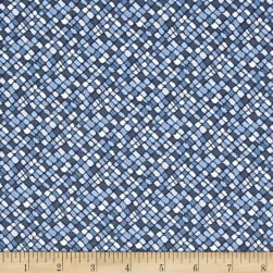 Kaufman Microlife Textures Digital Prints Diagonal Blue Fabric